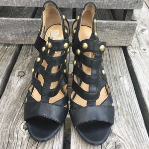 a3446b94cddb3 Boutique 9 Shoes - 🆕List! Antique Brass Studded Strappy Heels! VGUC!